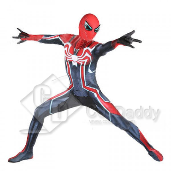 Marvel Ps4 Spider Man Armor Lycra Suit Bodysuit Ju...
