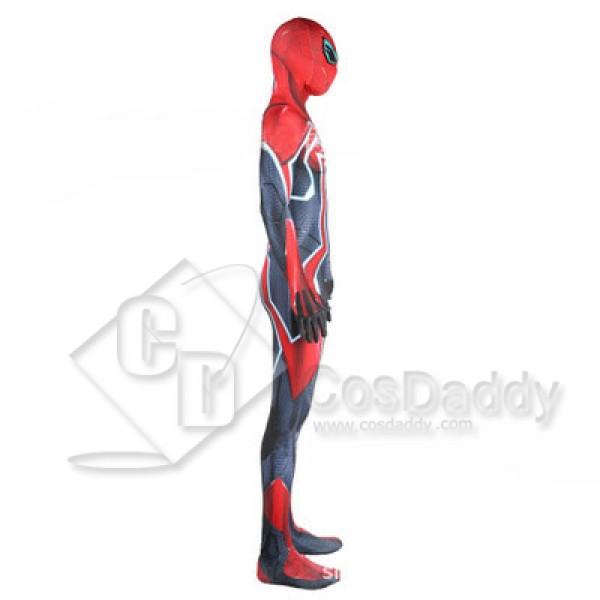 Marvel Ps4 Spider Man Armor Lycra Suit Bodysuit Jumpsuit Cosplay Costume