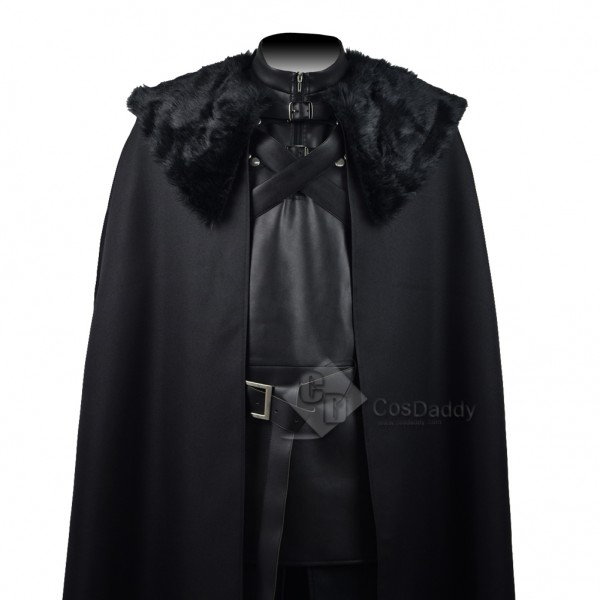 Game of Thrones  Jon Snow Night's Watch  Black Coat Suit Costume