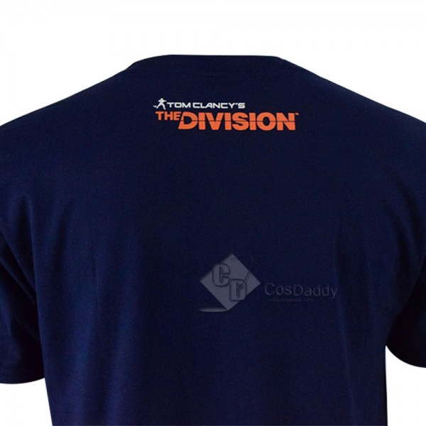 Cosdaddy Tom Clancy's The Division Shd T-shirts Blue Tee Adult