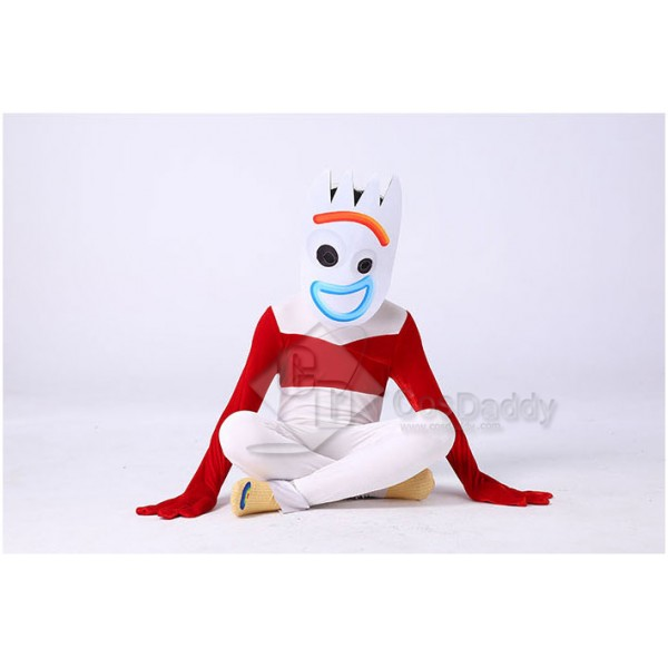 Disney Toy Story 4 Forky Costume Jumpsuit For Kids Halloween Party Cosplay