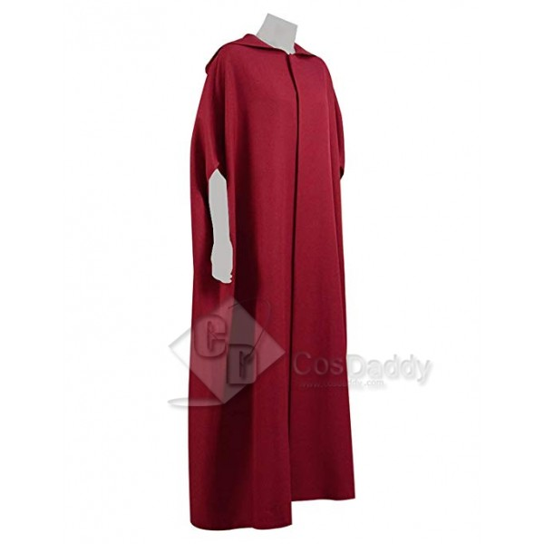 The Handmaid's Tale Halloween Party Women Handmaid Red Cape Dress Costume
