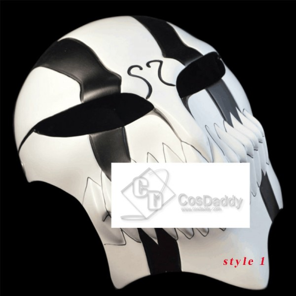 Bleach Ichigo Black Hollow Mask Anime Cosplay Helm...