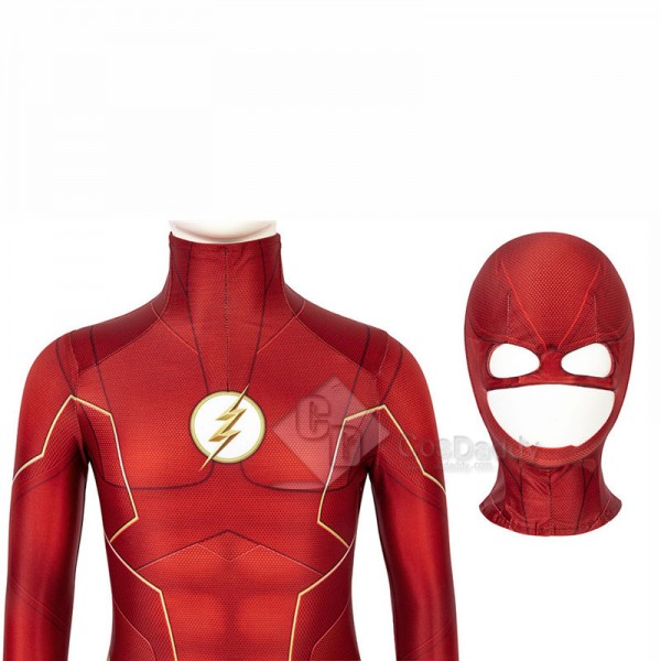 The Flash Season 6 Barry Allen Cosplay Costume Bodysuit Jumpsuit For Kids
