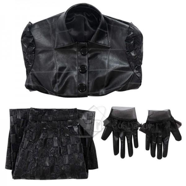 Cruella De Vil Movie Costumes Cruella Black Halloween Coat Wigs For Adults