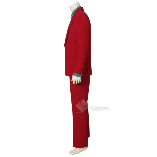 Men The Joker Clown Red Suit Outfit Cosplay Costume Halloween 2019