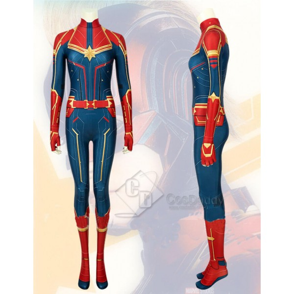 Captain Marvel Superhero Carol Danvers Marvel Costume Women Bodysuit Jumpsuit Cosplay