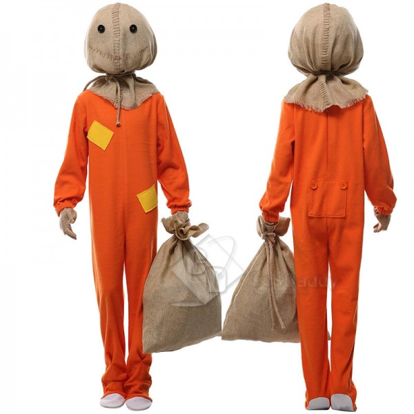 Men's Trick 'r Treat Sam Suit Uniform Jumpsuit Mas...