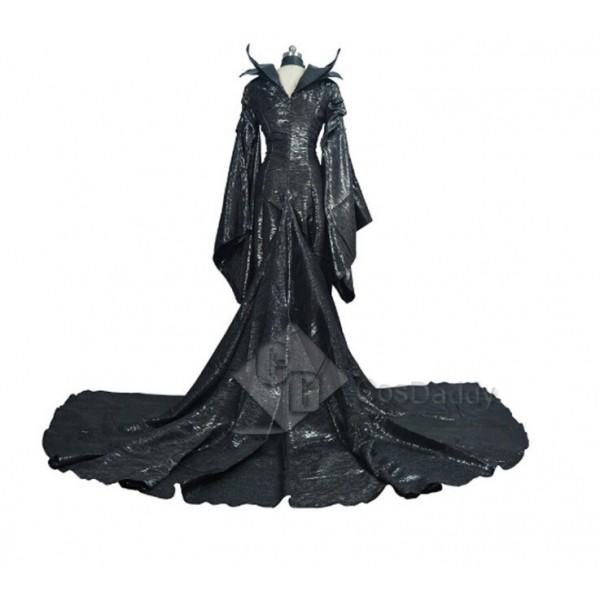 Disney Maleficent Mistress of Evil Black Witch Angelina Jolie Dress Cosplay Costume