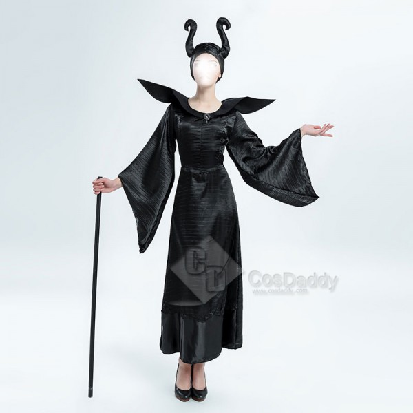 Women's Sexy Maleficent Witch Queen Black Christen...