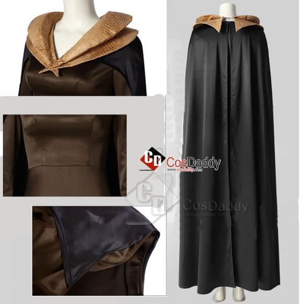 Women's Maleficent Mistress of Evil Dark Witch Dress Headpiece Wing Cosplay Costume