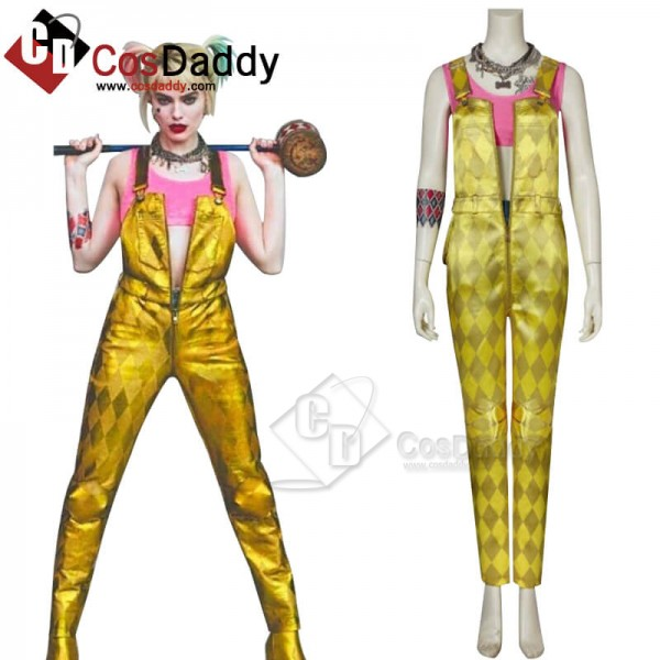 CosDaddy DC Birds of Prey 2020 Harley Quinn Cosplay Costume