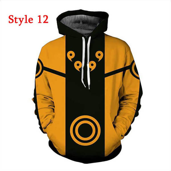 Anime Naruto Sweatshirts Hoodies 3D Printed Casual Pullover Coat