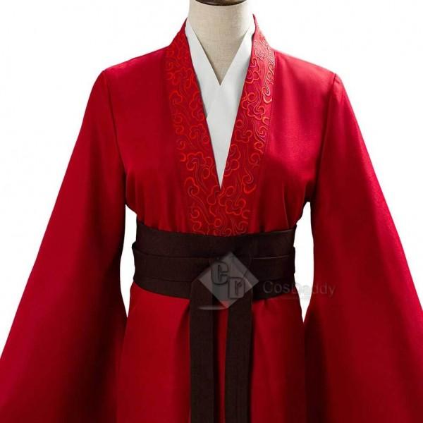 2020 Movie Mulan Costume Women Hanfu Cosplay Armor Props