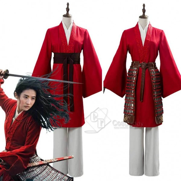 2020 Movie Mulan Costume Women Hanfu Cosplay Armor...