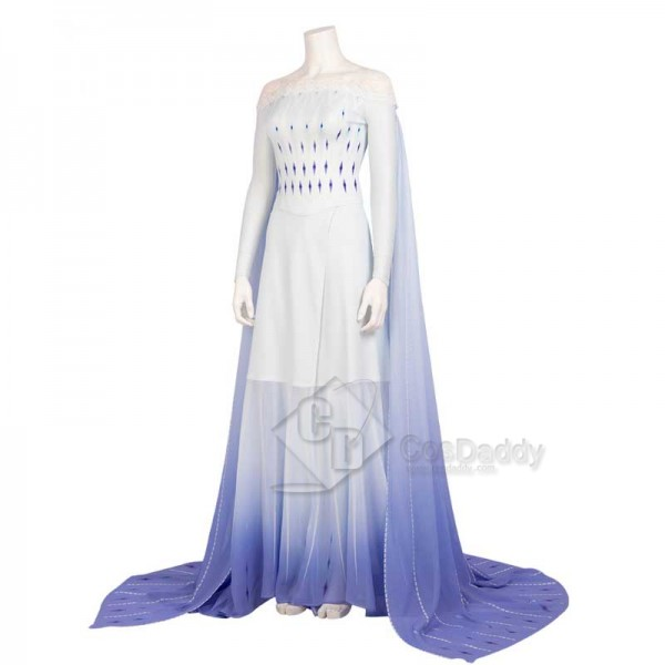 Disney Frozen 2 Elsa Costume White Dress Cosplay for Adults CosDaddy