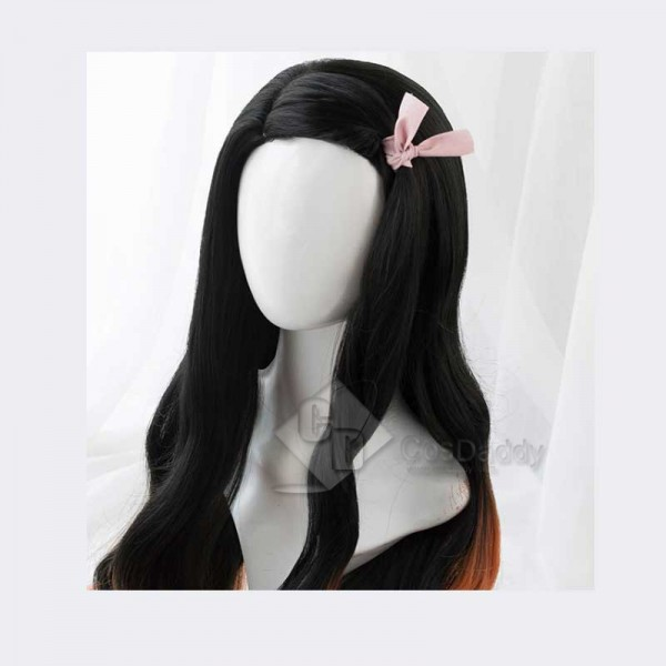 Demon Slayer Kimetsu no Yaiba Kamado Nezuko Cosplay Wig