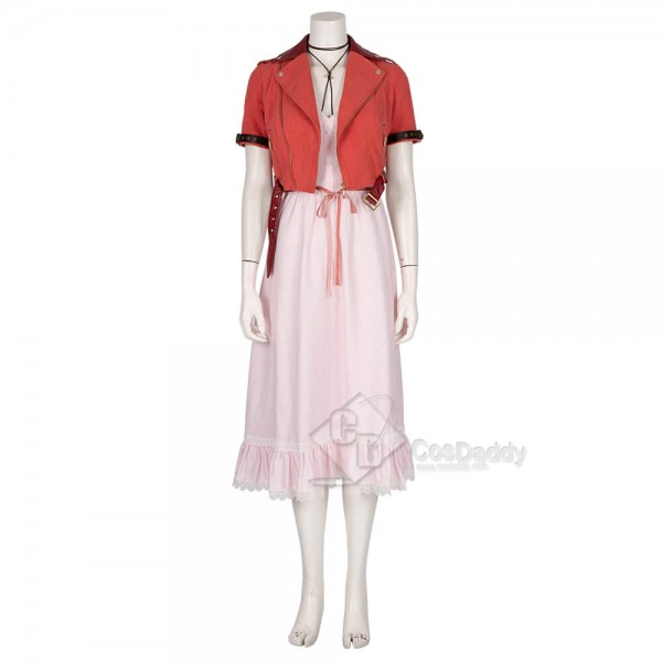 Final Fantasy VII Remake FF7 Cosplay Aerith Gainsborough Costume Dress