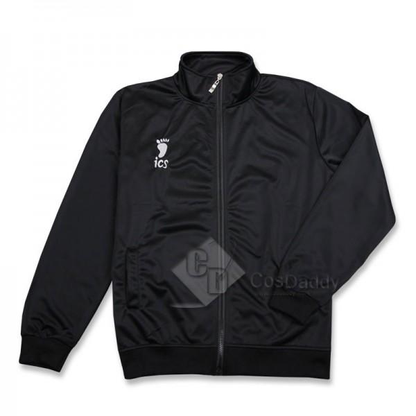 Haikyuu Cosplay Karasuno Juvenile Black Jacket Volleyball Club Unisex Sportwear Costume