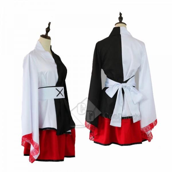 CosDaddy Danganronpa Monokuma Black White Bear Women Kimono Cosplay Costume