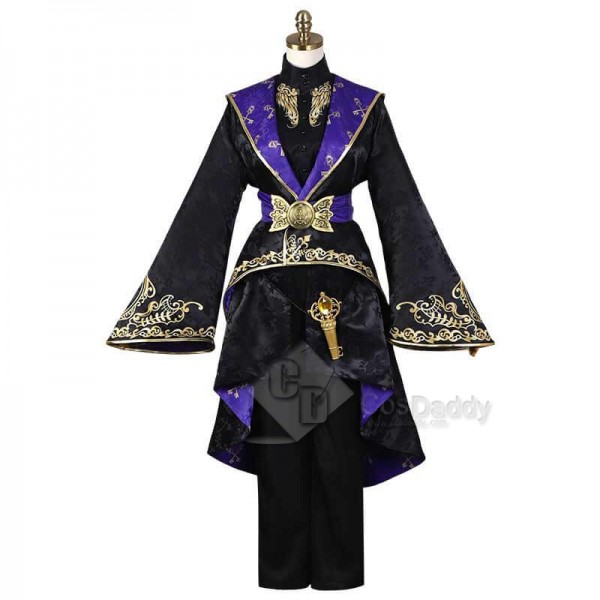 Adults Kids Disney Twisted Wonderland Azul Ashengrotto Geremonial Robes Full Set Outfit Cosplay Costume