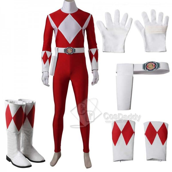 Mighty Morphin Power Rangers Red Ranger Cosplay Co...