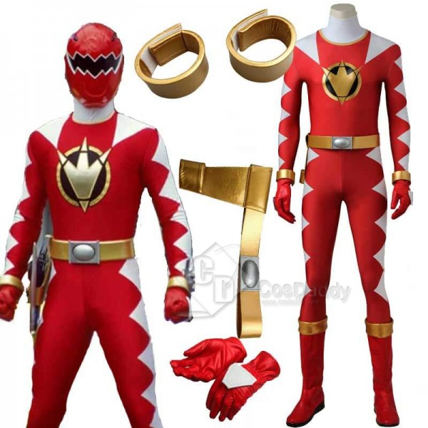 Power Rangers Dino Thunder Red Dino Ranger Zentai ...