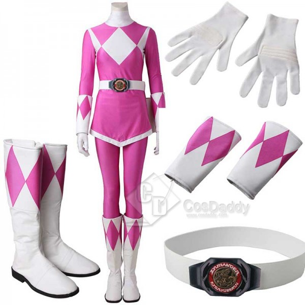 Adults Mighty Morphin Power Rangers Costume Pink R...