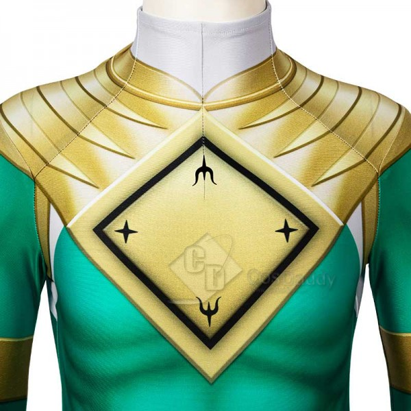 Kids Power Rangers Green Ranger Zentai Jumpsuit Mask Cosplay Costume