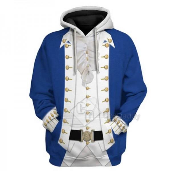 Adults Alexander Hamilton 3D Printed Hoodie Jacket Sweatshirt Colonial Cosplay Costume