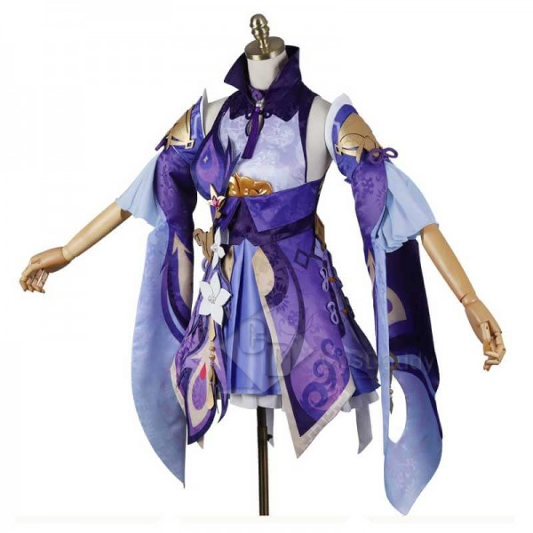 Genshin Impact Keqing Purple Dress Cosplay Costume Deluxe Version For Sale