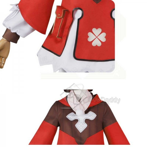 Genshin Impact Klee Red Coat Cosplay Costume Full Set Outfit