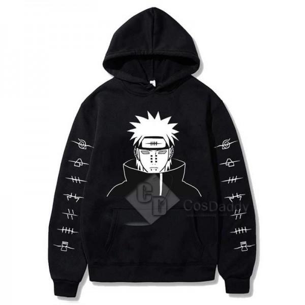 Adults Anime Naruto 3D Printed Hoodie Pullover Jacket Akatsuki Itachi Uchiha Cosplay Costume Unisex