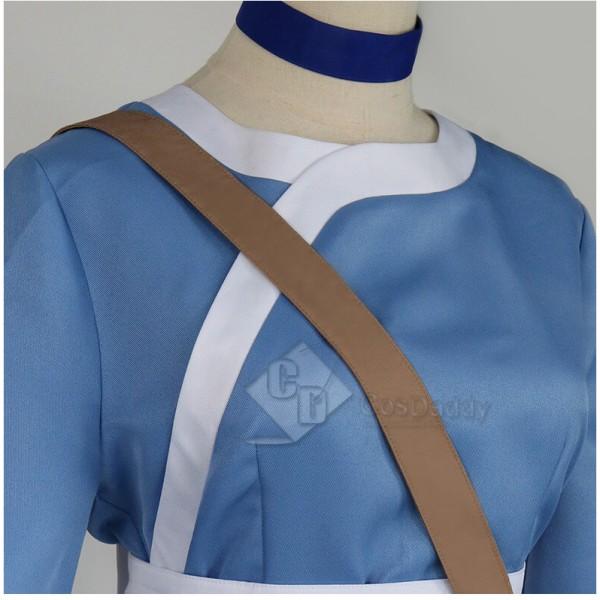 Avatar: The Last Airbender Katara Blue Dress Outfit Full Set Cosplay Costume