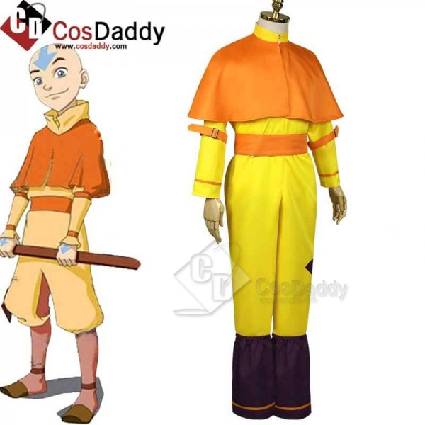 Avatar: The Last Airbender Aang Yellow Jumpsuit Cl...