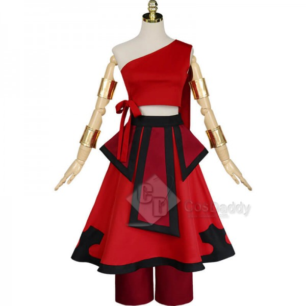 Best Avatar: The Last Airbender Katara Red Dress Cosplay Costume For Sale