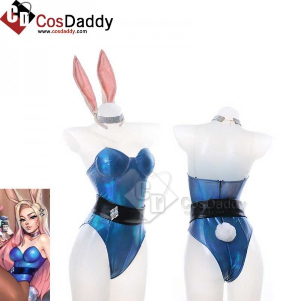 LOL KDA Ahri Evelynn Seraphine Bunny Girl Bodysuit Cosplay Costume Women