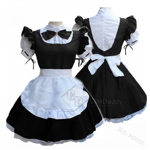Women Maid Dress Lolita Dress French Apron Maid Co...