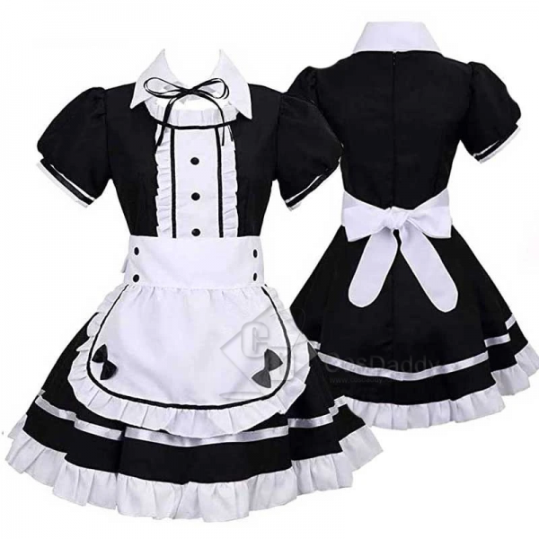Maid Cosplay Costume Maid Dress Full Set Maid Cosp...