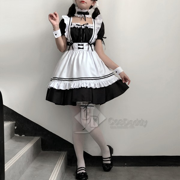Maid Dress Lolita Maid Outfit Cosplay Gothic Dress Cosplay Costume Women