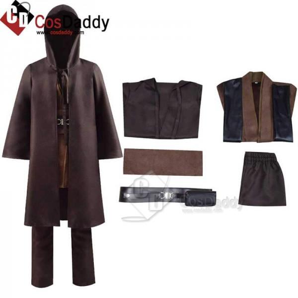 Star Wars Cosplay Costume Kids Obi-Wan Cosplay Cos...