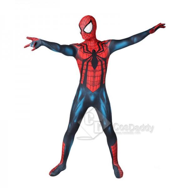 Kids Adults Marvel Spider-Man Ben Reily Spiderman Zentai Jumpsuit Cosplay Costume