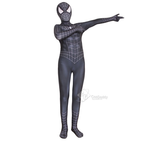Marvel The Amazing Spider-Man Costume Black Zentai Bodysuit Cospaly Costume Kids Adults