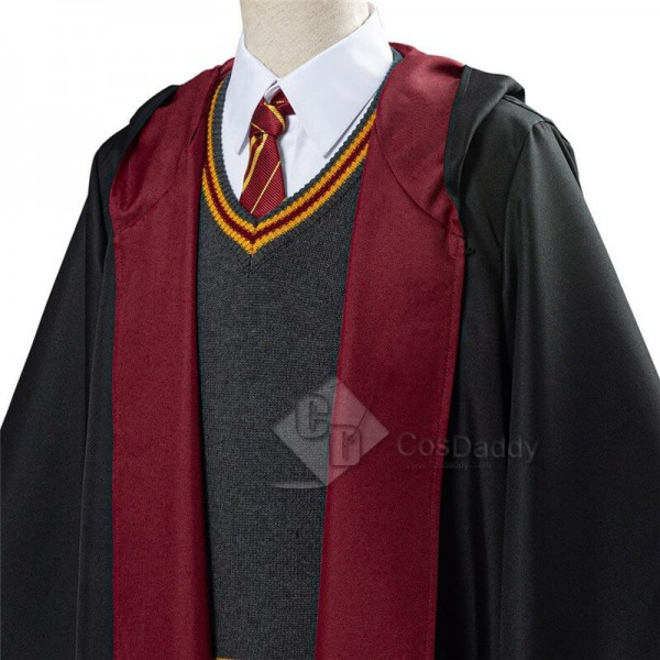 Best Harry Potter Hermione Cosplay Costume School Uniform Robe Cloak Deluxe Version Outfit For Sale