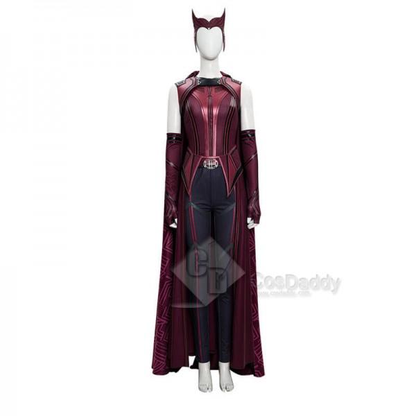 Wanda New Costume Suit 2021 WandaVision New Scarlet Witch Cosplay Halloween Superheroine