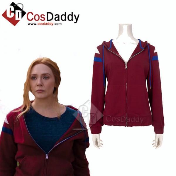 WandaVision Wanda Maximoff Hoodie Jacket Scarlet W...