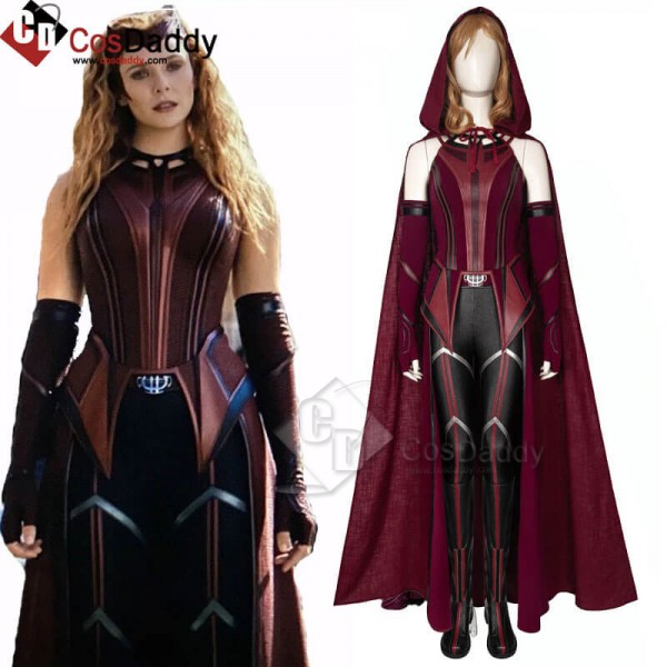 2021 WandaVision New Scarlet Witch Cosplay Suit Wa...