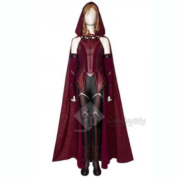 2021 WandaVision New Scarlet Witch Cosplay Suit Wanda Maximoff Cosplay Costume