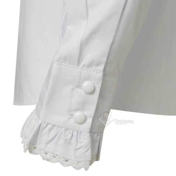 Doctor Who Third 3rd Doctor Frilled Shirt Cosplay Costume