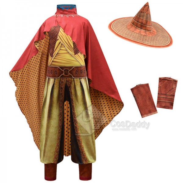 Kids Raya And The Last Dragon Costume Halloween Jumpsuit 2021 New Warrior Raya Costume